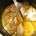 Hagymás mustáros csirkecombok